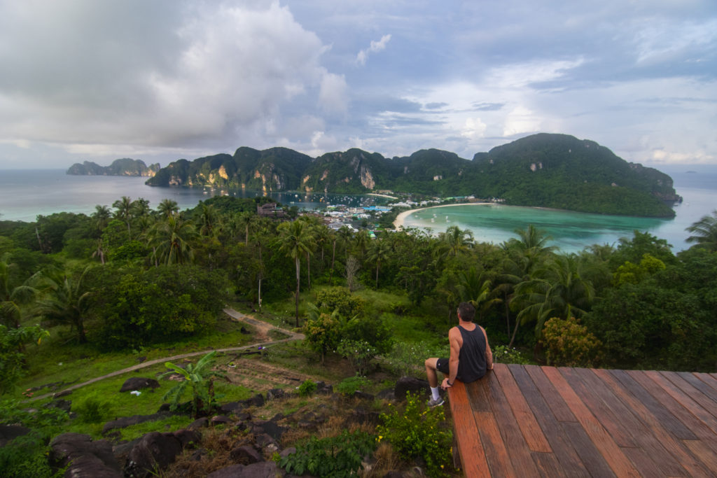 Phi Phi Island Viewpoint Hike at the top
