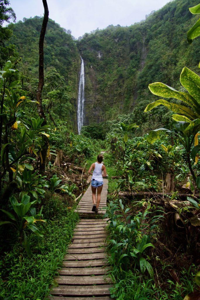 Waimoku Falls at the end of Pipiwai Trail! Haleakala National Park. What to do in Maui.