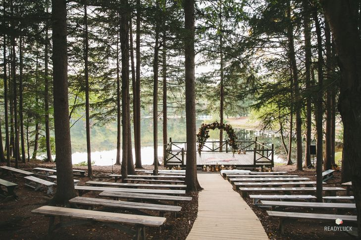 Ceremony area at Cedar Lakes Estate in NY.