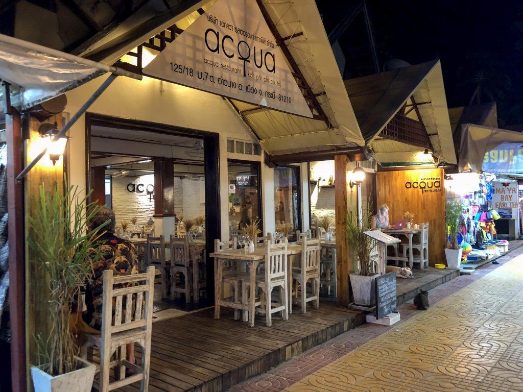 Acqua Restaurant Phi Phi Islands Thailand-min