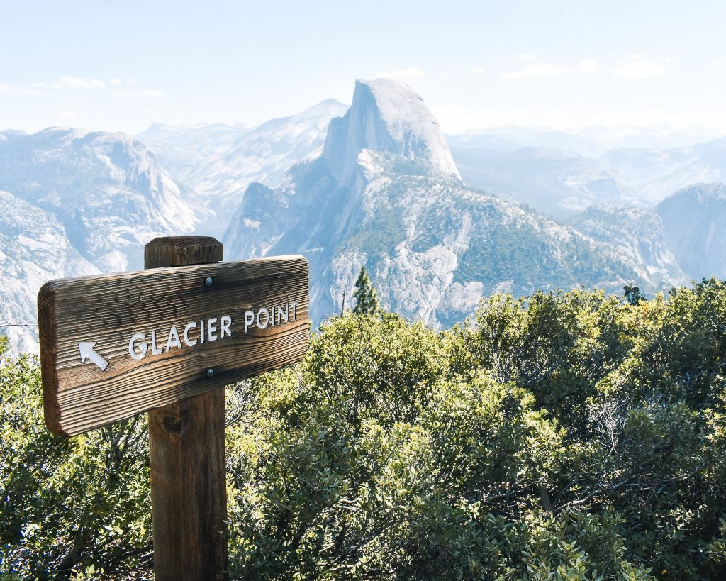 Glacier Point looking over Half Dome - Yosemite National Park 4 Day Itinerary