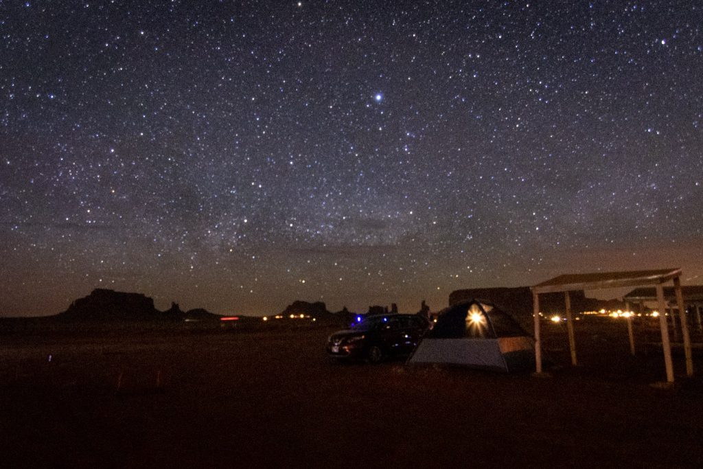 Type of Vacations Camping at Monument Valley Utah