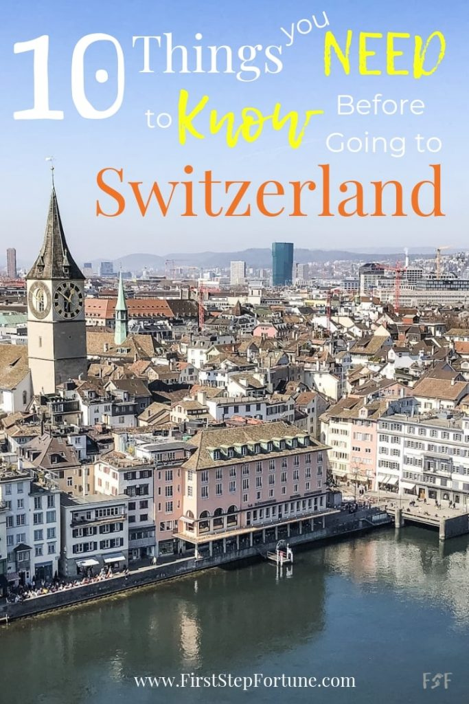 10 Things you need to know before going to Switzerland. Everyone should know these top 10 things before visiting Switzerland to properly prepare for your visit or vacation.