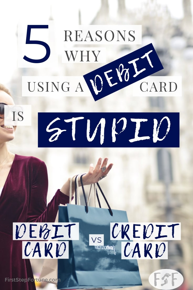 Debit Card vs Credit Card 5 Reasons why using a debit card is stupid pinterest