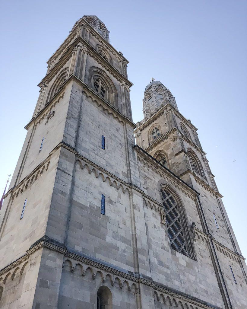 Grossmünster Church. How to Spend a Day in Zurich, Switzerland. Highest view in Zurich, Switzerland.
