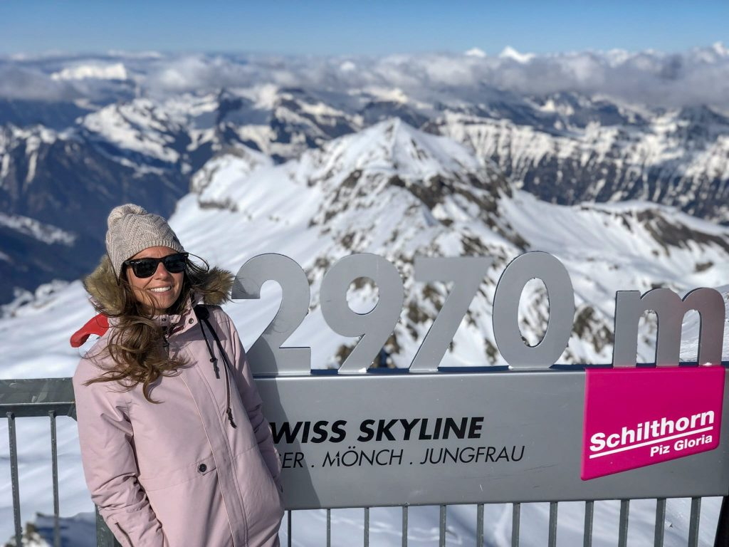 Schilthorn Mountain in Swiss Alps where James Bond was filmed - is free with the Swiss Rail Pass. 10 Things you need to know before visiting Switzerland