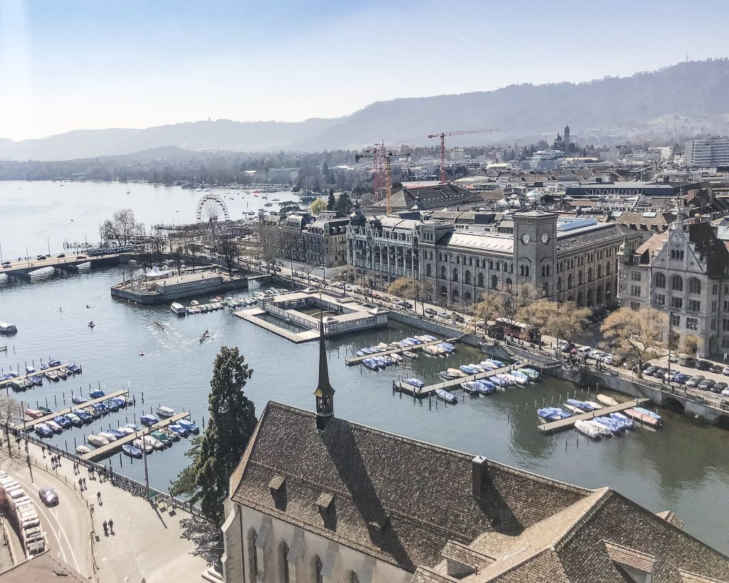 View from Grossmünster Church South. How to Spend a Day in Zurich, Switzerland.