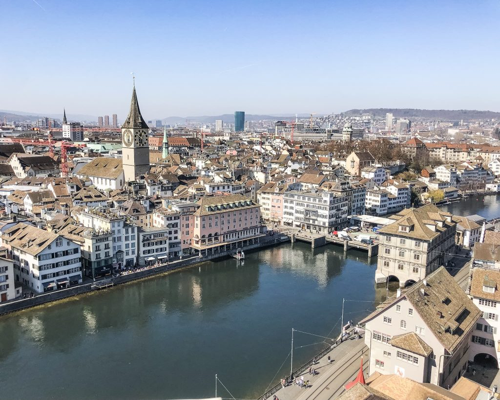 View from Grossmünster Church north. How to Spend a Day in Zurich, Switzerland