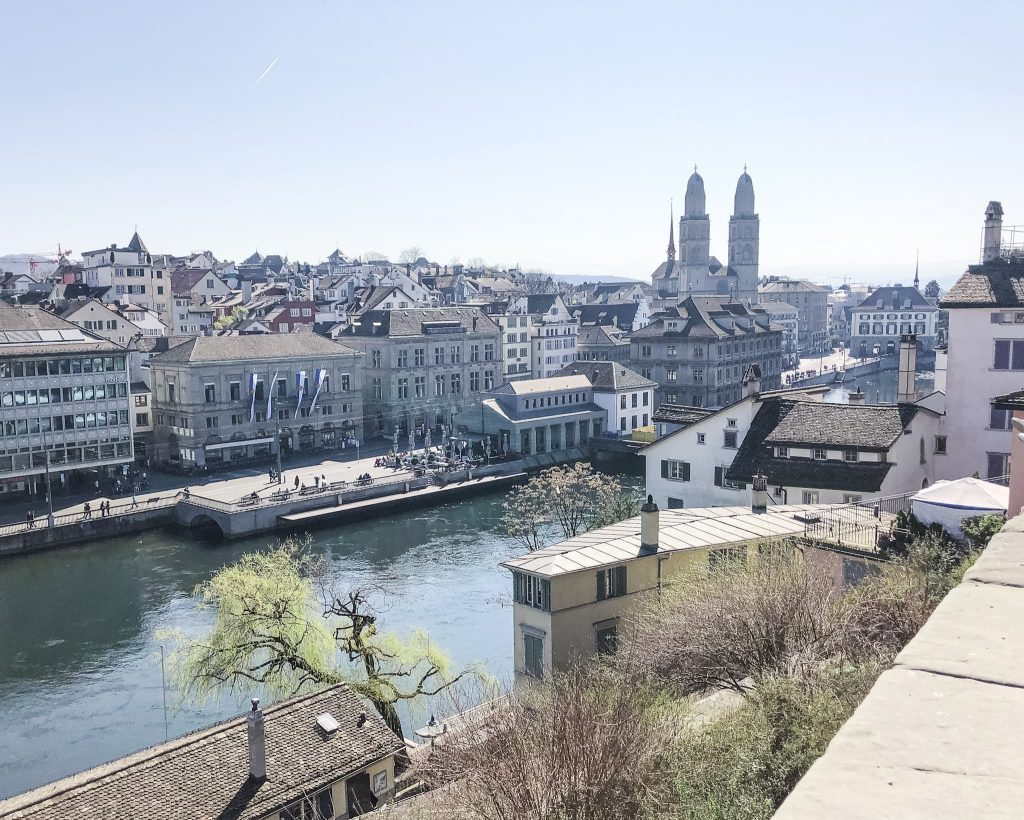 View from Lindenhof. How to Spend a Day in Zurich, Switzerland. Best Zurich viewpoints of the city.