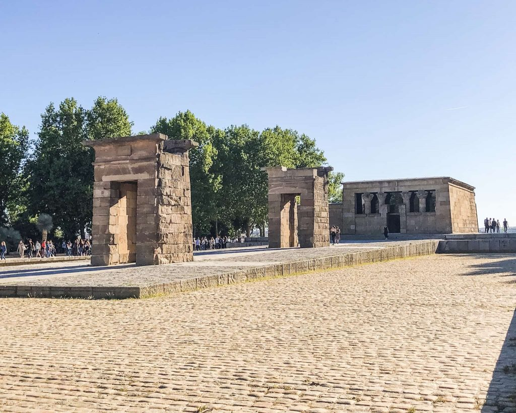 The Temple of Debod.  West Park Madrid. One day in Madrid, Spain. Instagram worthy places. What to see in Madrid.