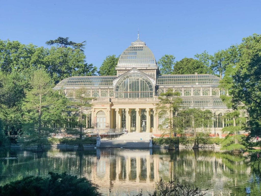 Palacio de Cristal del Retiro, this place is STUNNING.  One day in madrid