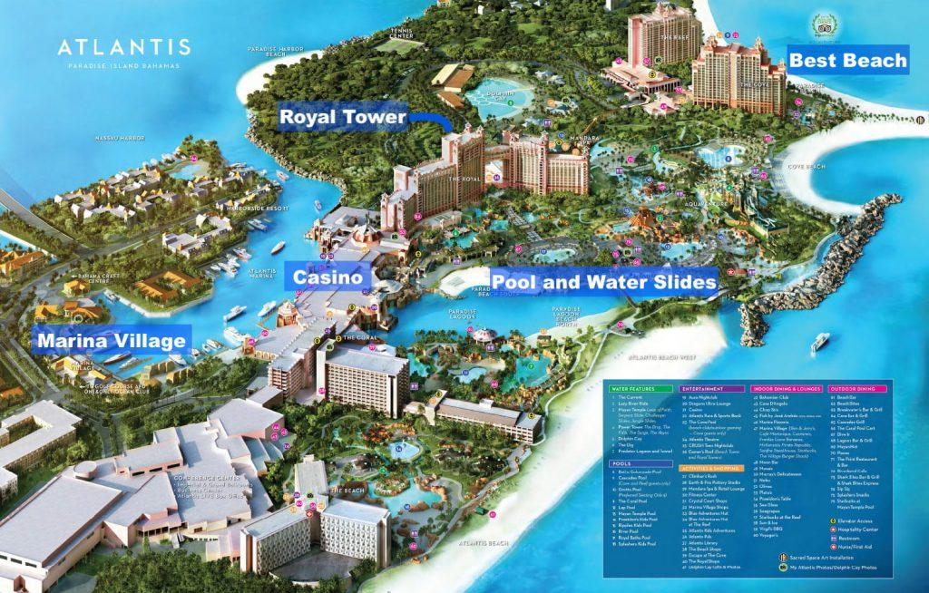Atlantis Resort Royal Tower Location and Hotel Review