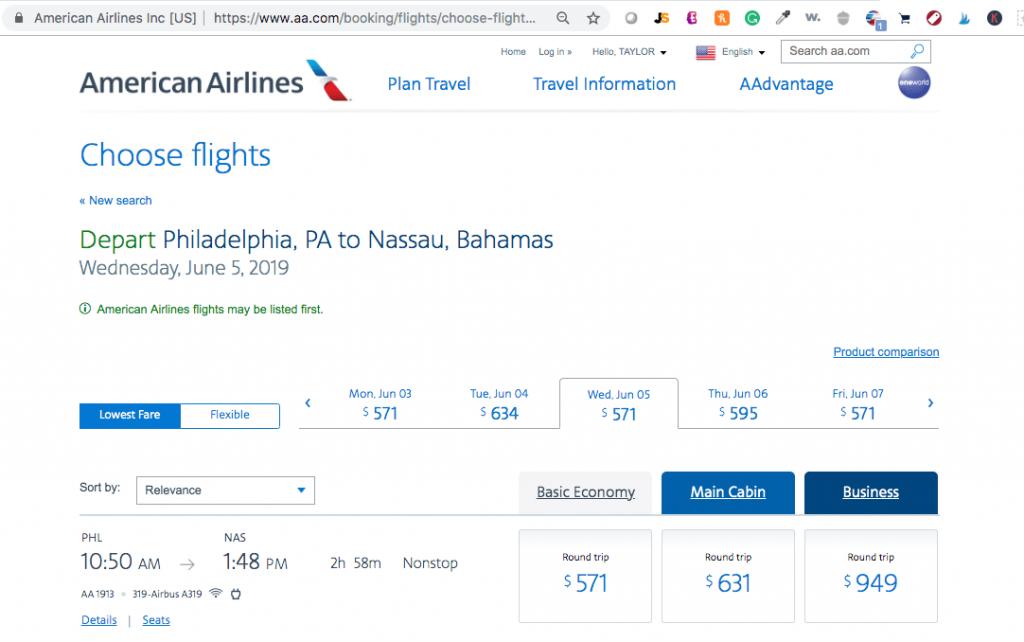 American Airlines Flight Redemption to Bahamas - Cheap Flights to Atlantis Bahamas