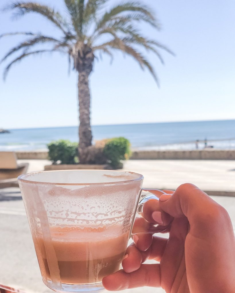 Top 10 Things To Do in Valencia, Spain. Port Saplaya. Coastal cities in Spain. Morning coffee in Port Saplaya. What to see in Valencia, Spain. Where to eat in Port Saplaya. Coffee near Valenica, Spain.