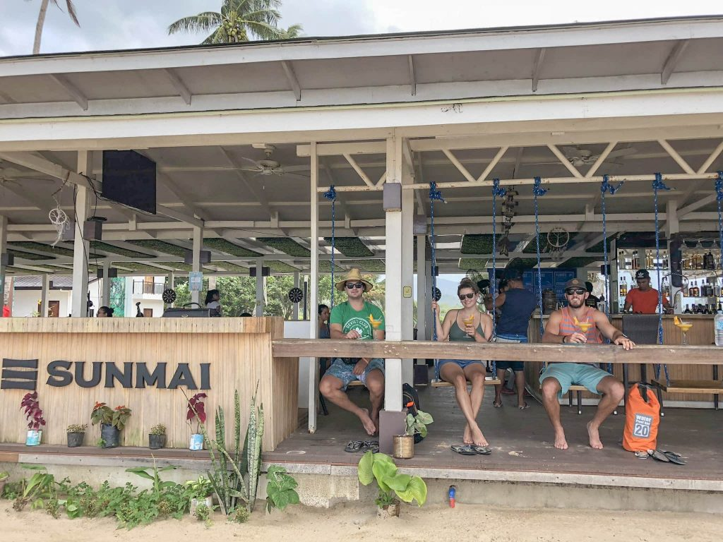 Sunmai Bar and Restaurant on Nacpan Beach.  Top things to do in El Nido Palawan Philippines