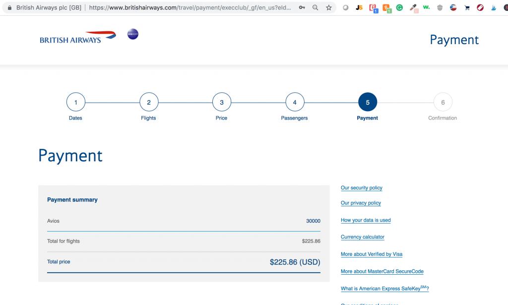 Using British Airways to fly American Airlines to Nassau Bahamas