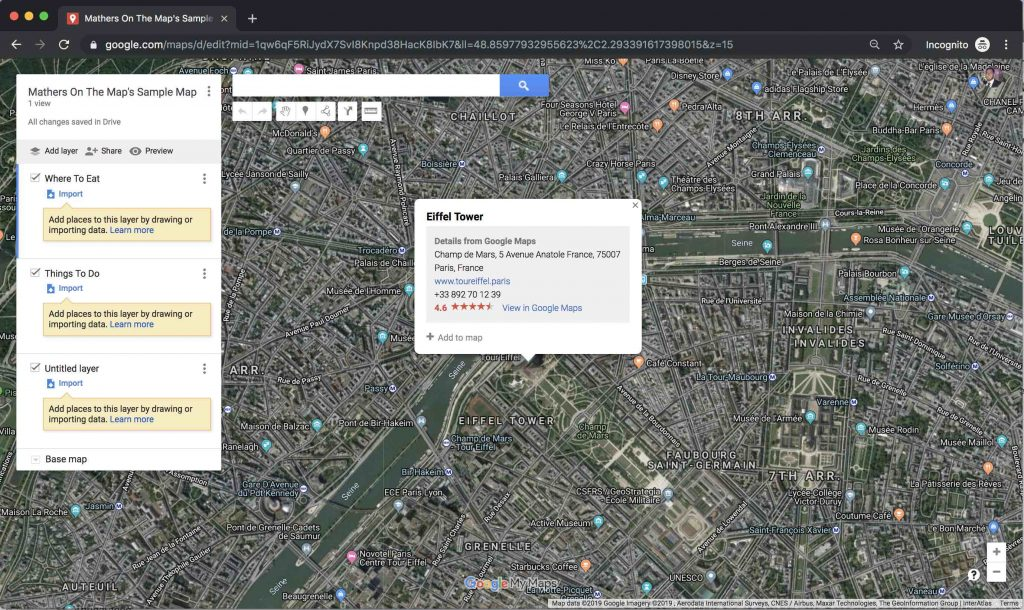 Adding Points of Interest to Google Maps - how to use google maps to plan a trip