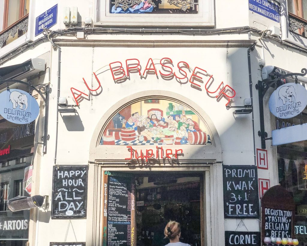 Au Brasseur one of the other breweries to drink at offering flights and more - What to do in Brussels the ultimate guide on what to see where to eat and where to stay