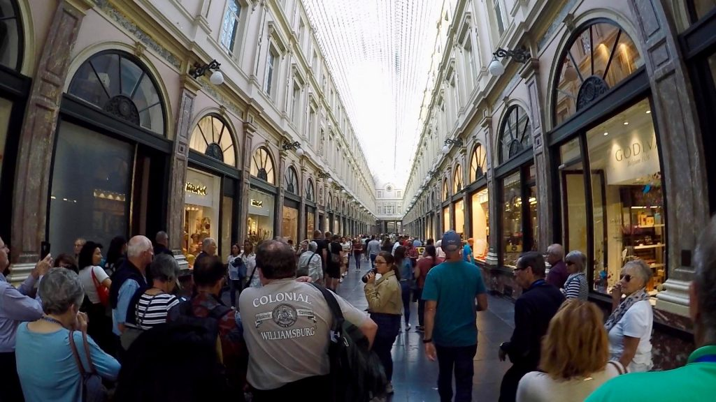 Galeries Royales St Hubert Inside with all of the stores - what to do in Brussels