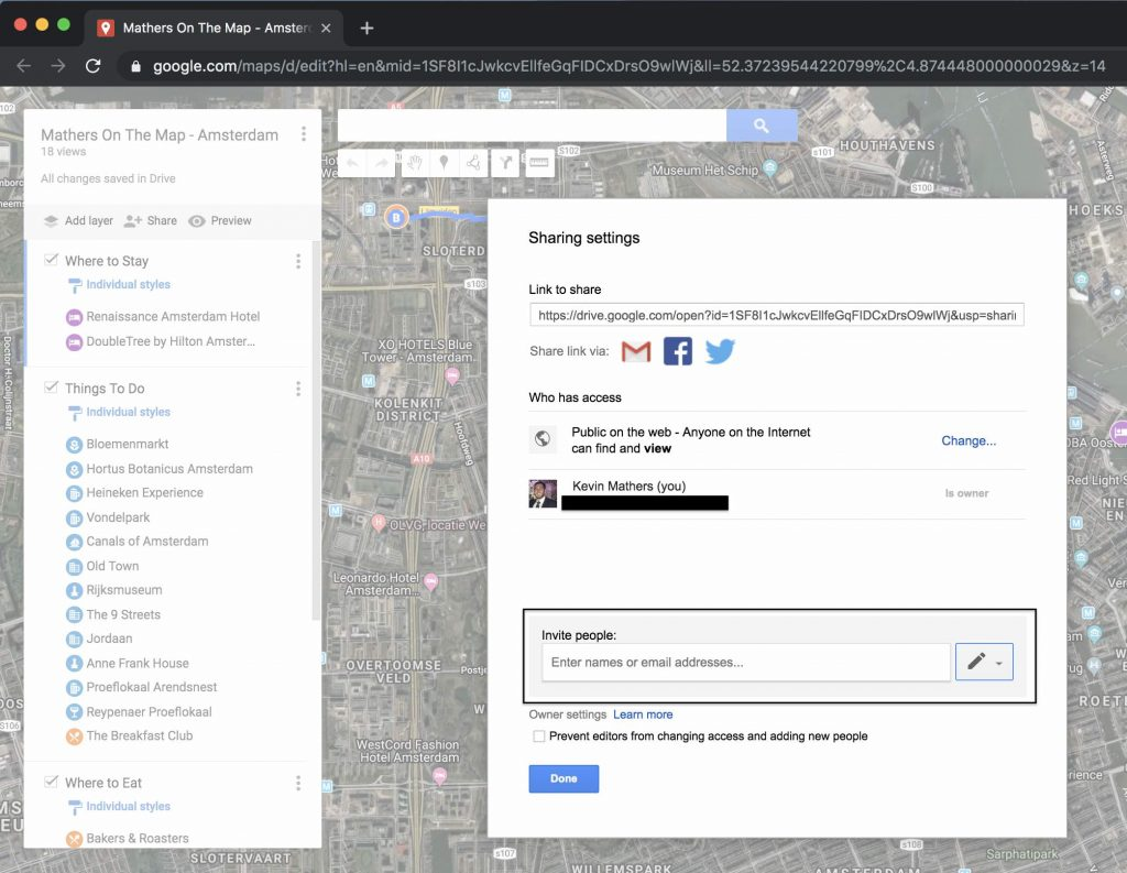 Invite others to google maps - how to use google maps to plan a trip