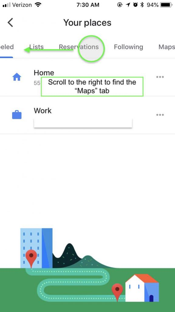 Scroll to right to open maps - how to use google my maps to plan a trip