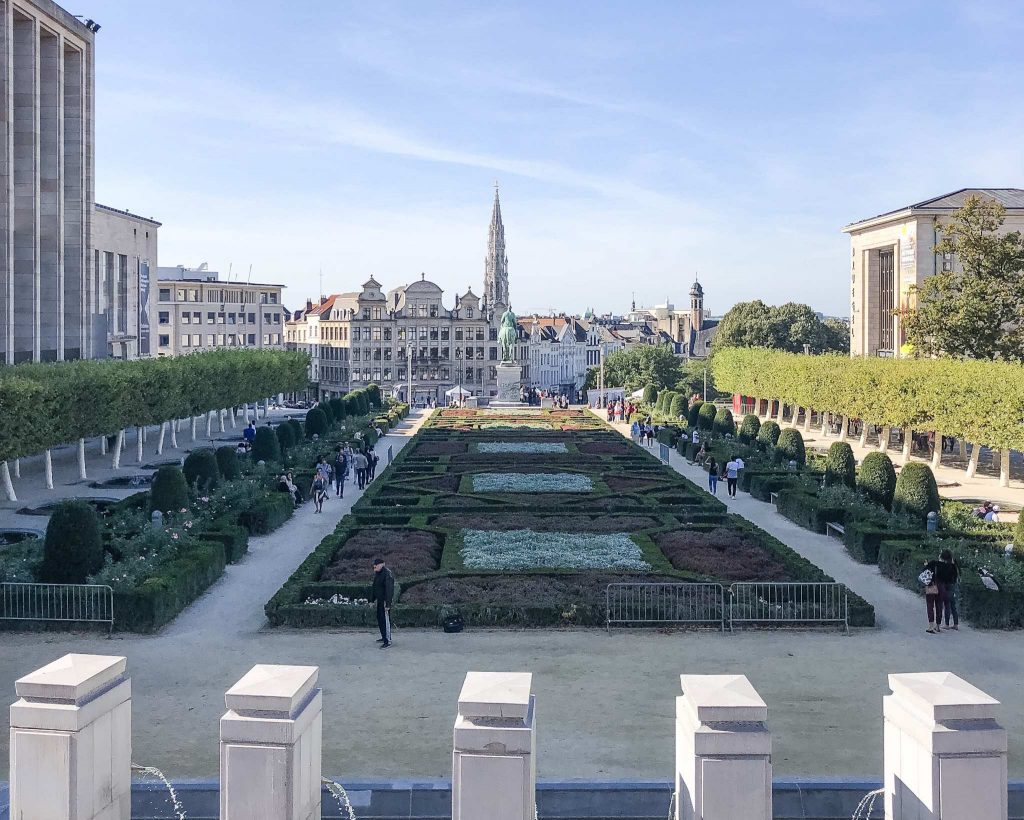 View of the Brussels from Mont des Arts - What to do, where to eat and where to stay in brussels belgium