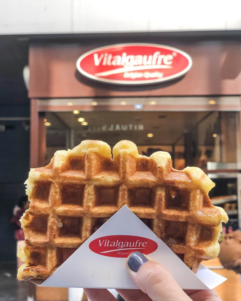Vitalgaufre Beglian Waffles - What to do, where to eat and where to stay in Brussels Belgium