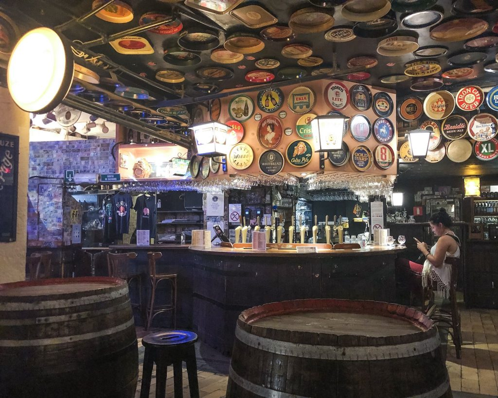 the best place to drink beer in brussels Delirium Cafe - where to eat in Brussels Belgium