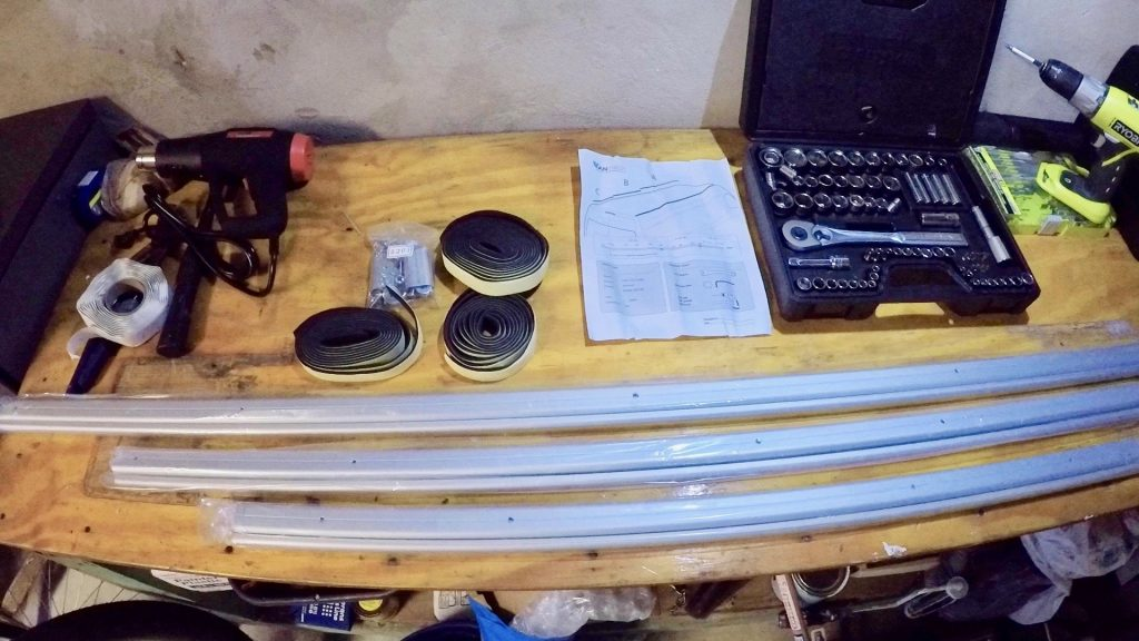 unboxing van tech roof rails for mercedes sprinter van installation