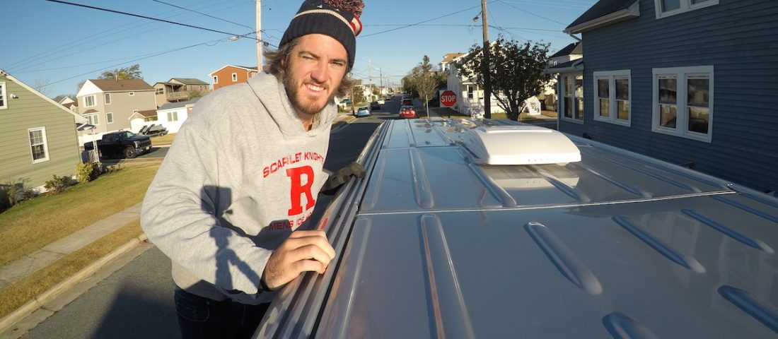How to install roof rails on a sprinter van