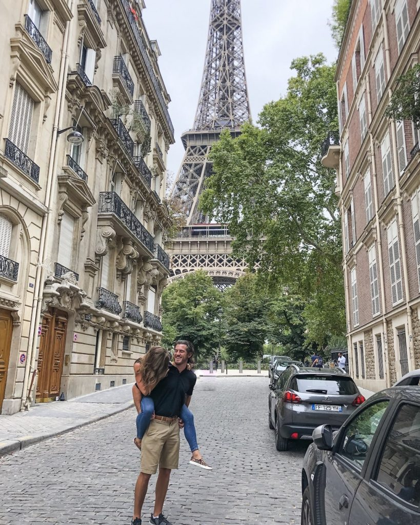 How to Make the Best of 48-Hours in Paris, France. What to see in Paris, France. Things to see in Paris. Famous landmarks in Paris. Eiffel Tower from Rue de l'Université. Best places to view the Eiffel Tower in Paris. Instagram worthy photos of the Eiffel Tower.