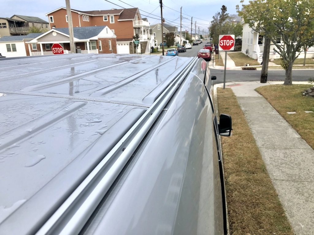 How to install roof rails to a sprinter van