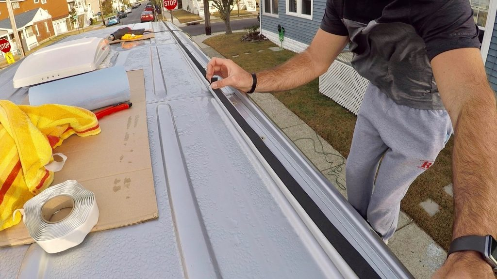 apply weather stripping to the back of the rails how to install roof rails