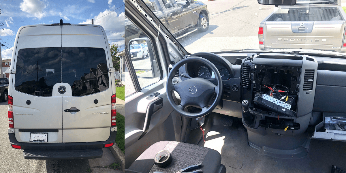 How to Install a Backup Camera to Your Sprinter Van - Mathers on the MapMathers On The Map