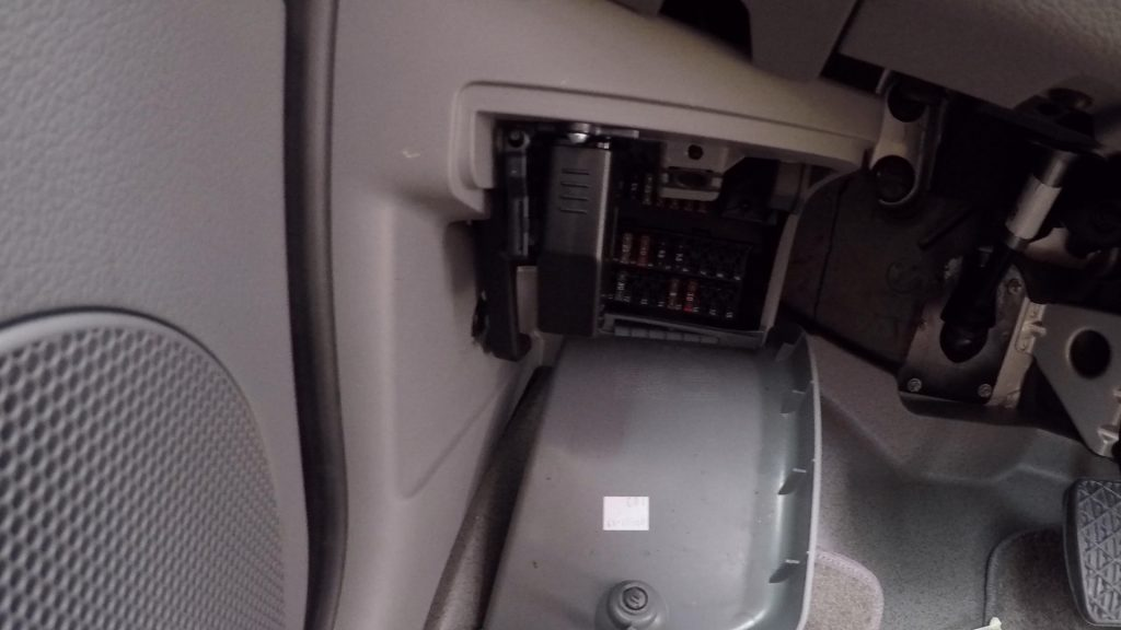 Insert OBD application into the OBD port in van - how to install rearview camera sprinter van-min