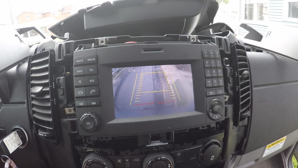 Rearview camera displays after OBD application installed into van - how to install backup camera on sprinter van