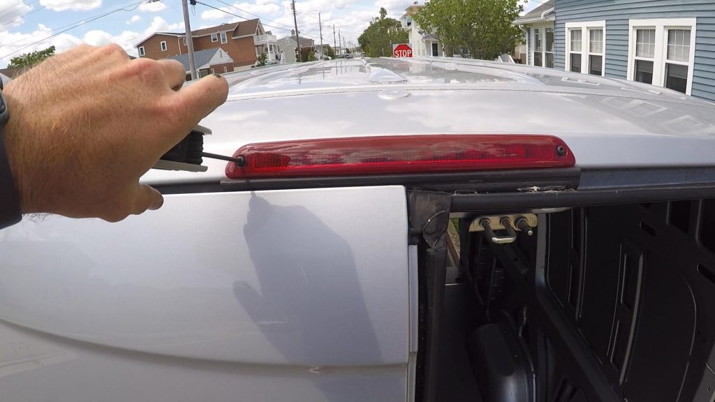 Remove the back brake light to switch with the camera brake light