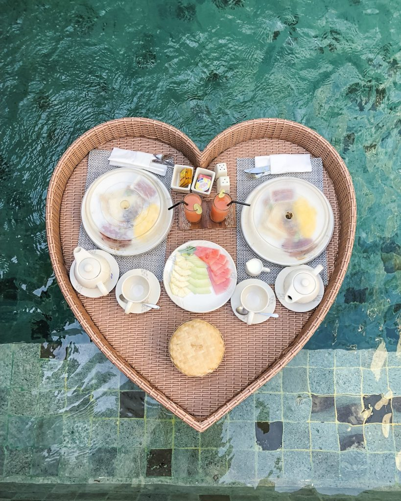 Top 12 Things to Do in Bali (Indonesia). Become a Foodie in Seminyak. Visit Nusa Penida. Where to surf in Bali. Best restaurants in Bali. What to do in Bali. Where to go in Bali. What to see in Bali. Floating breakfast at The Jimbaran Villa