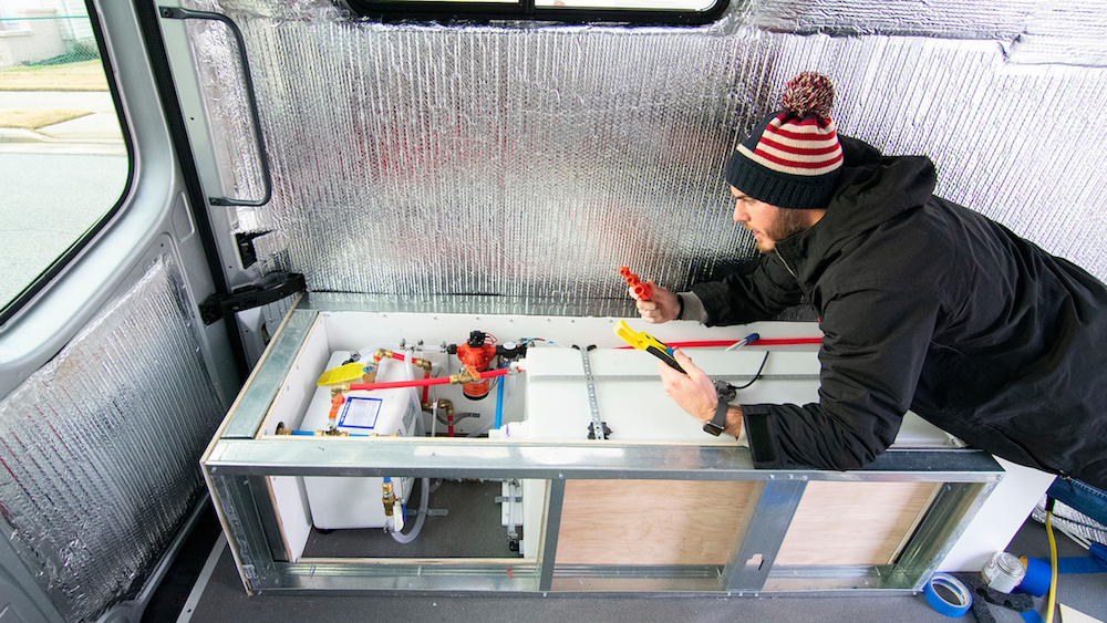 How to build the plumbing system in a sprinter van
