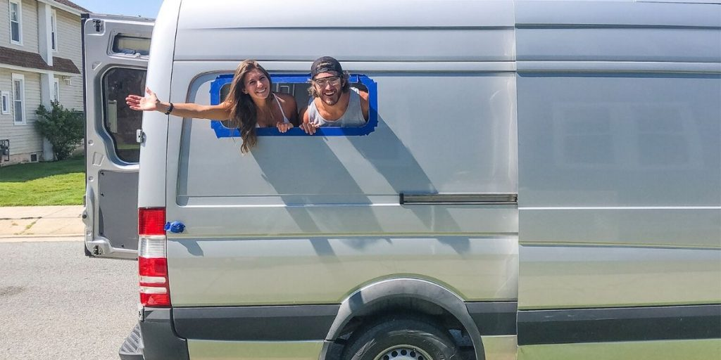 how to install side panel bunk windows on a spritner van