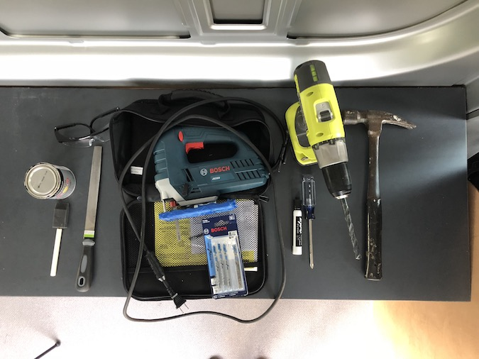 tools needed for sliding door window on sprinter van