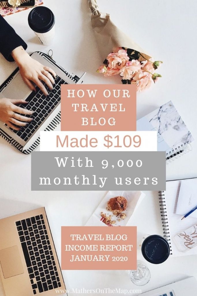 Our first travel blog income report - mathers on the map