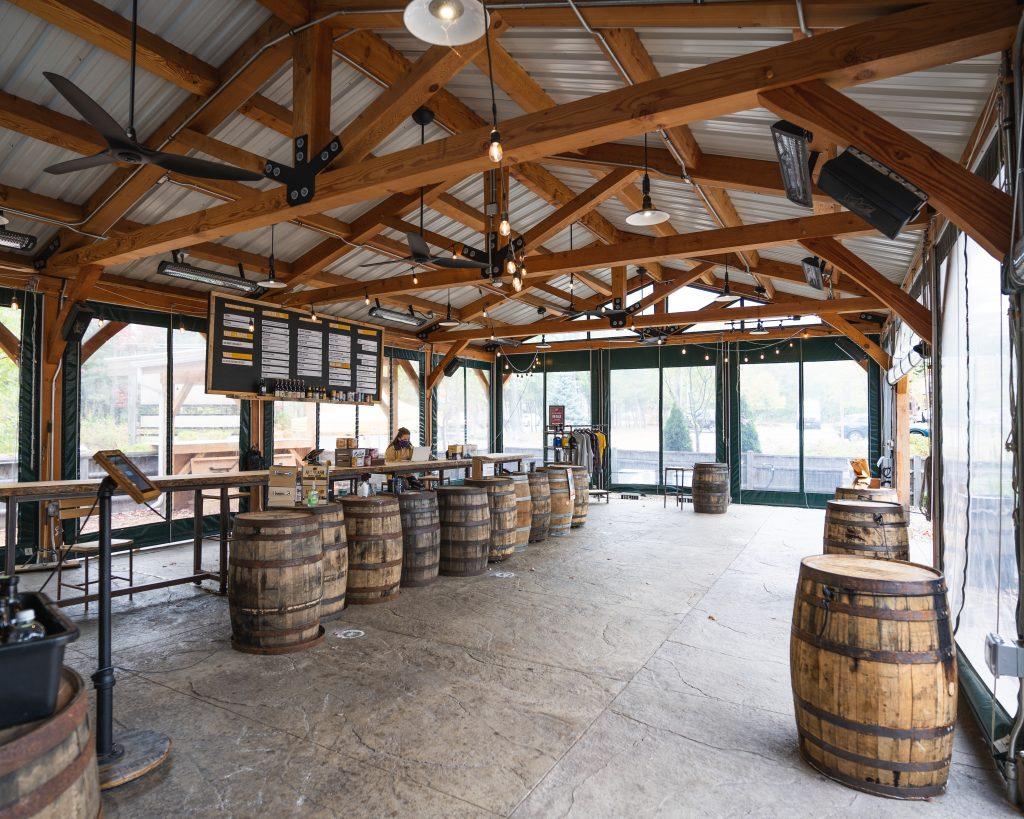 Inside Allagash Brewery Portland