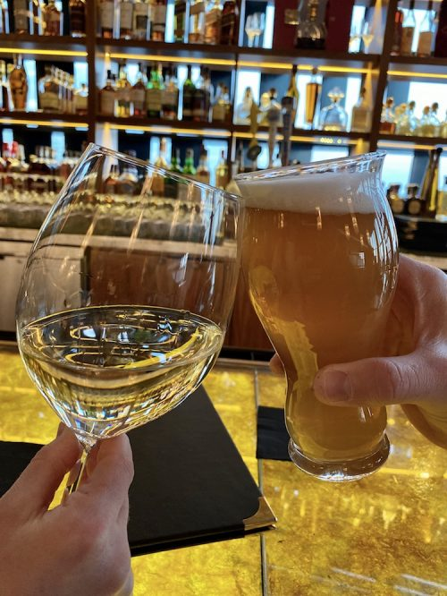 20 of the best happy hour locations in Atlantic City - The wine glasses are huge in American Cut Restaurant in the Ocean Casino