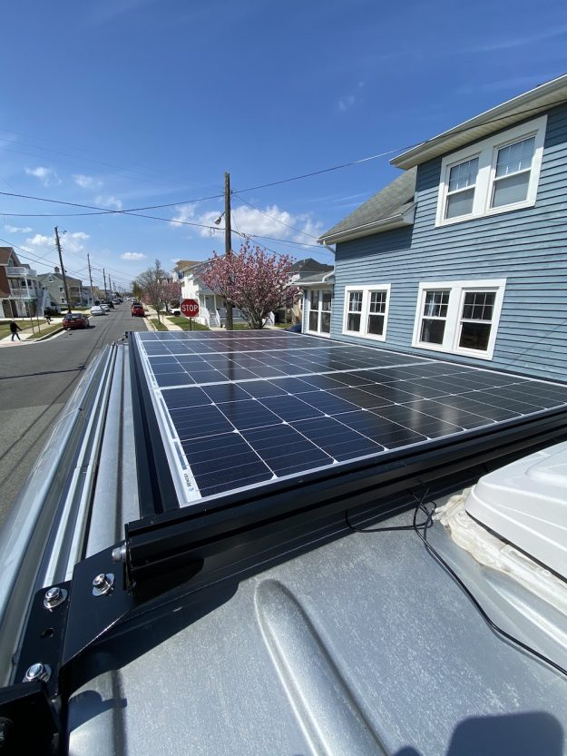DIY Custom Solar Roof Rack for DIY Camper Van made out of 80/20