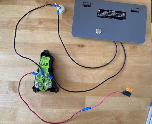 Lithium Battery Isolation Manager How to Wire the Li-Bim 225 for a DIY camper van electrical system momentary switch