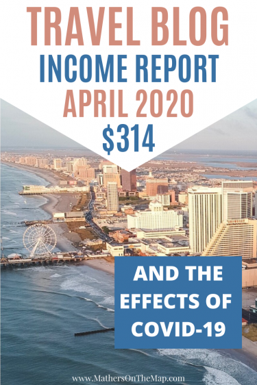Mathers on the map travel blog income report April 2020
