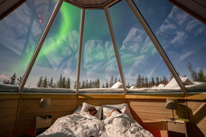 Saariselka northern lights village aurora cabins (1 of 1)
