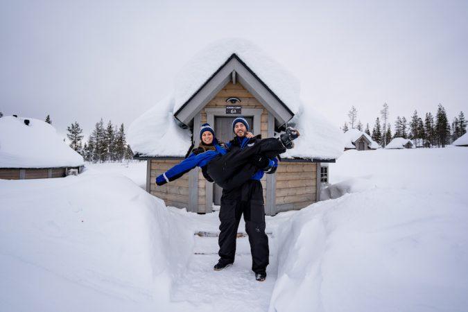 Saariselka northern lights village aurora cabins outside (1 of 1)