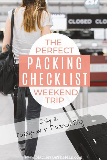 The perfect weekend trip packing checklist
